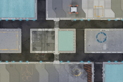 Urban industrial game mat