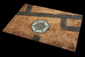 sci fi desert game mat