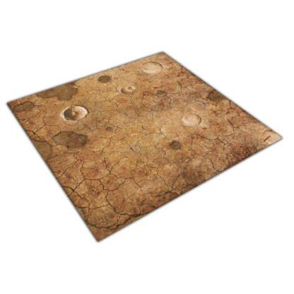 dry lands craters desert game mat 4x4
