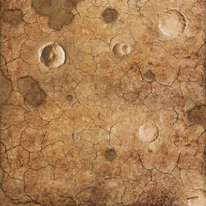 dry lands desert sci fi craters 4x4 game mat