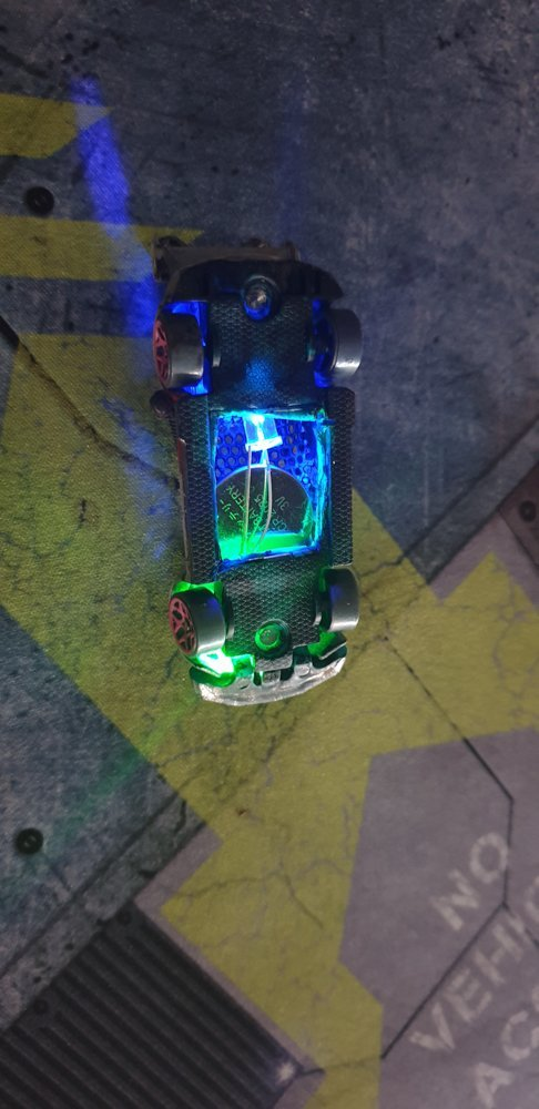 led in miniature vehicle