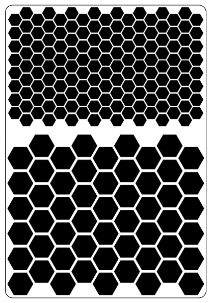 Hex pattern stencil