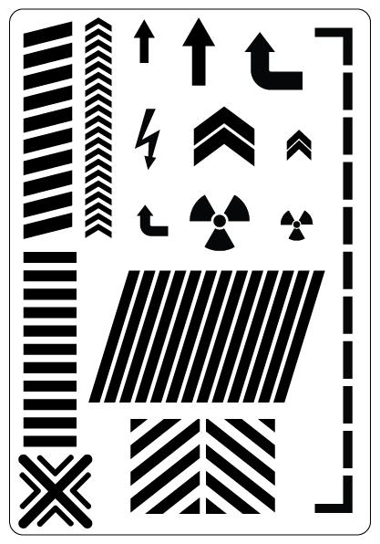 industrial airbrush stencil