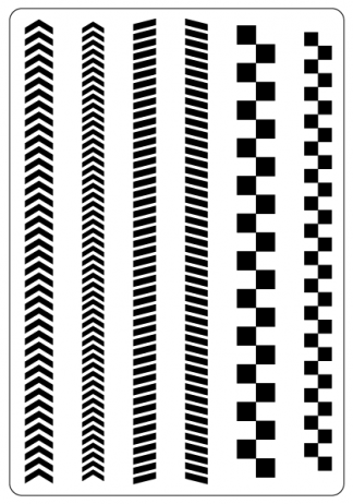 checkered vehicle stencil