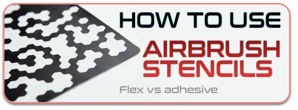how to use airbrush stencils