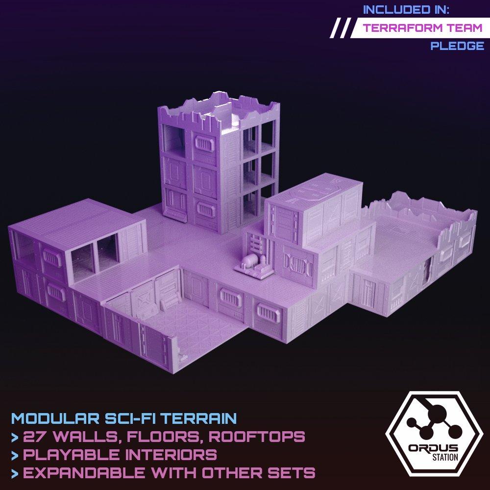 Ordus Station – Modular Scifi Interiors (Structure Upgrade Set) STL 3D printable