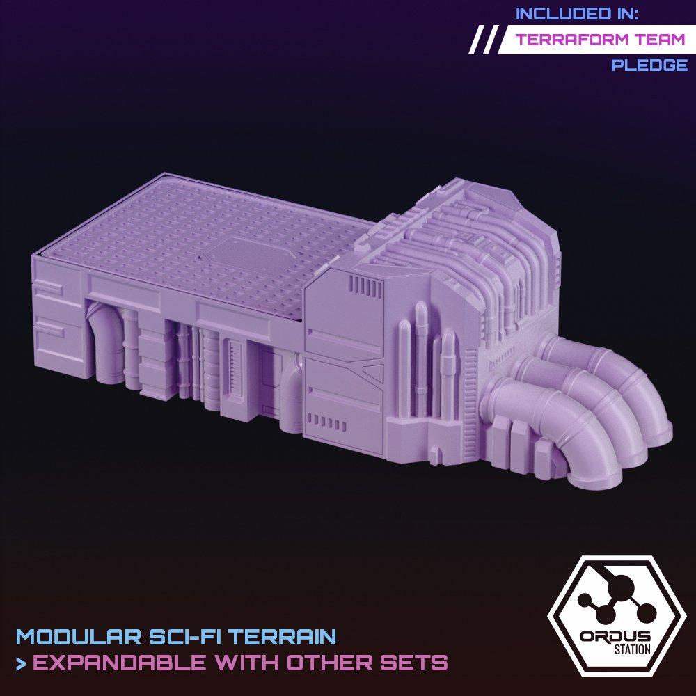 Pump Station Platform STL 3D printable