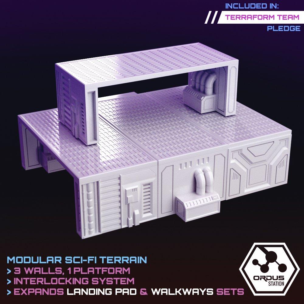 Raised Platform STL 3D printable