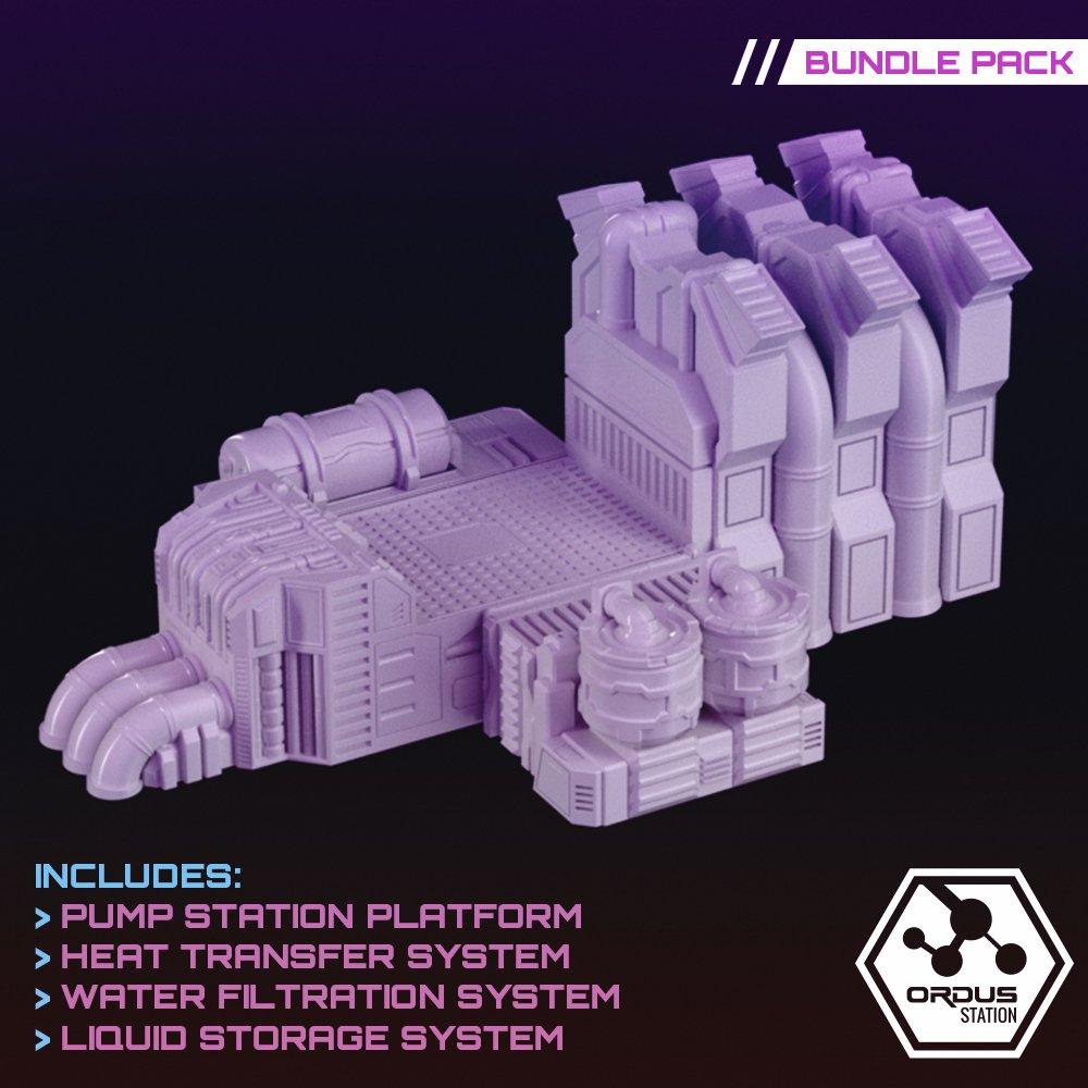 Planetary Engineering Terrain Pack Bundle STL 3D printable