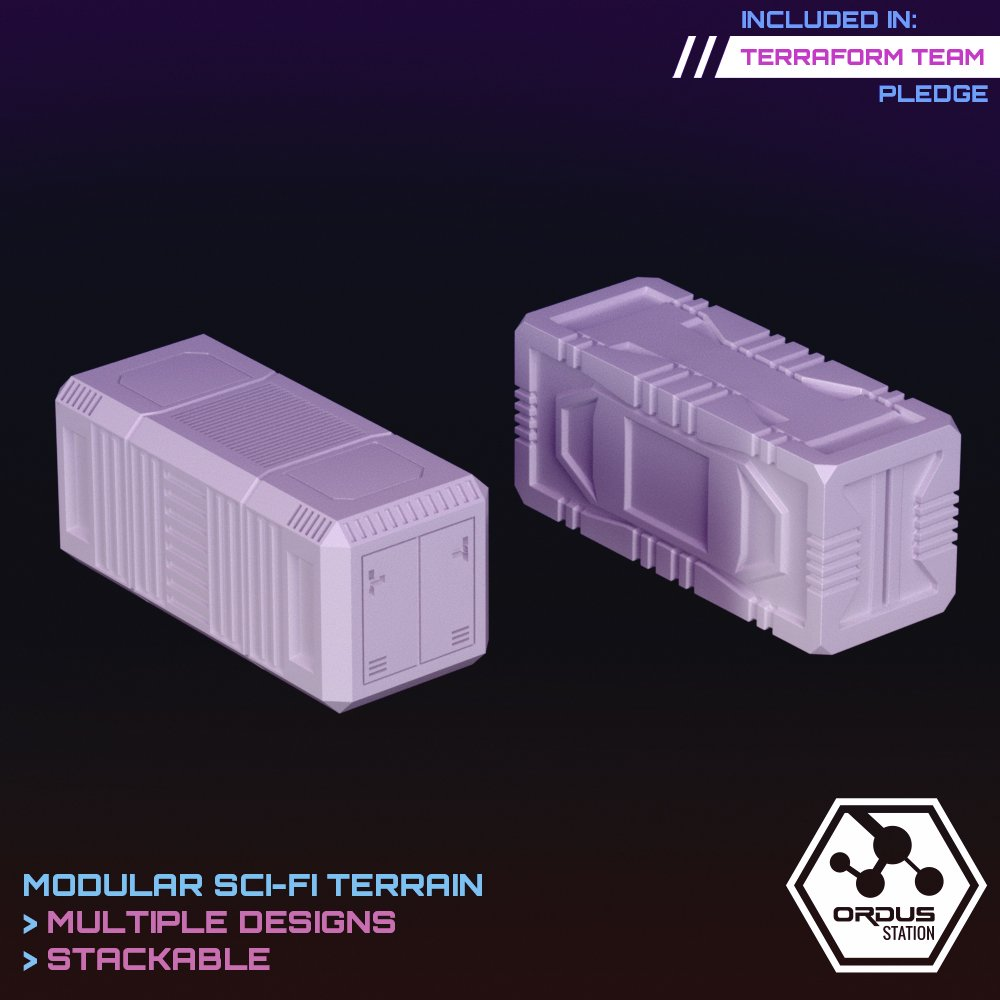 Shipping Containers STL 3D printable