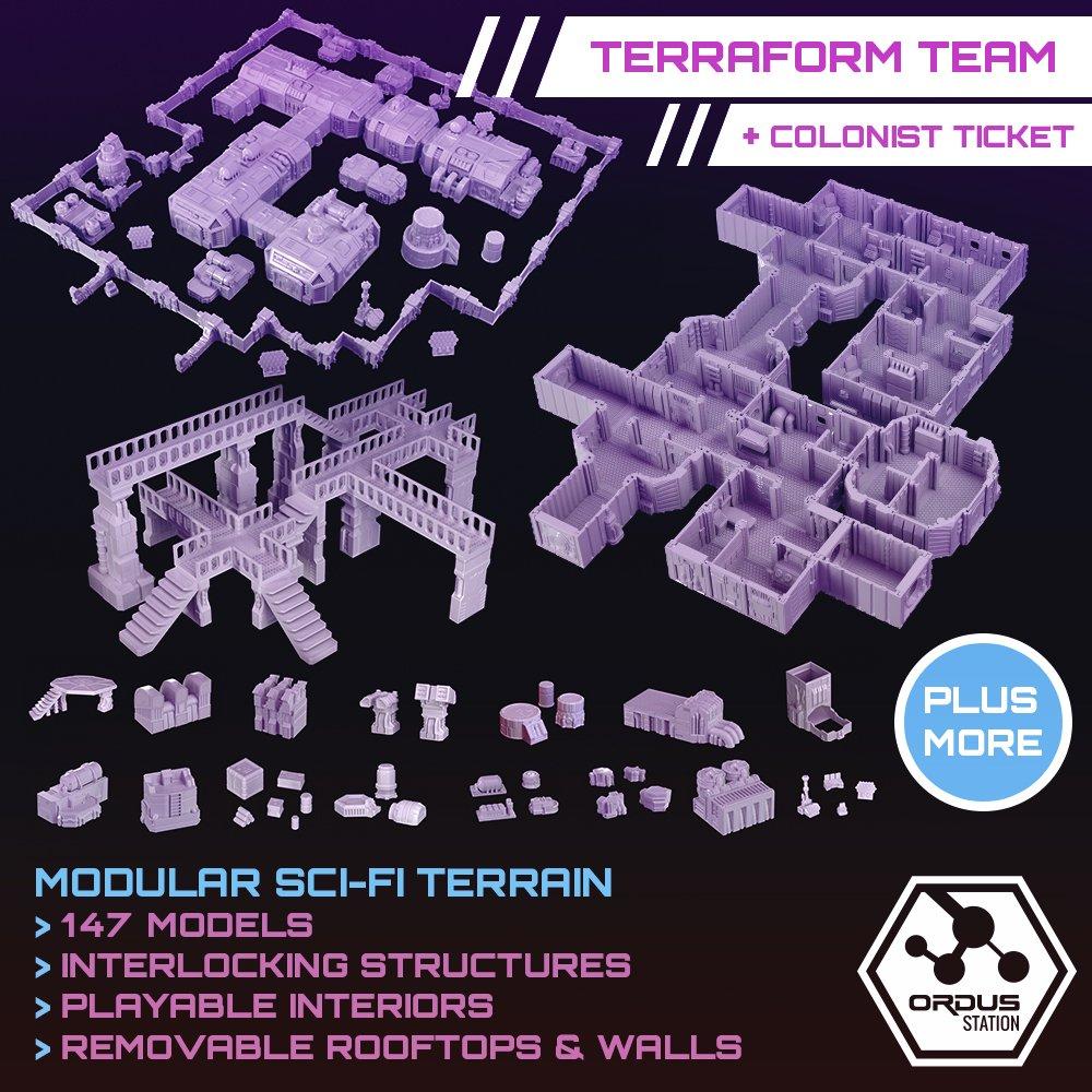 Ordus Station – Kickstarter Bundles (LATE PLEDGE) STL 3D printable