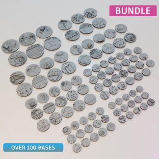 tabletop gaming bases, resin printing, 28-70mm miniatures