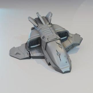 #d Printable crashed shuttle