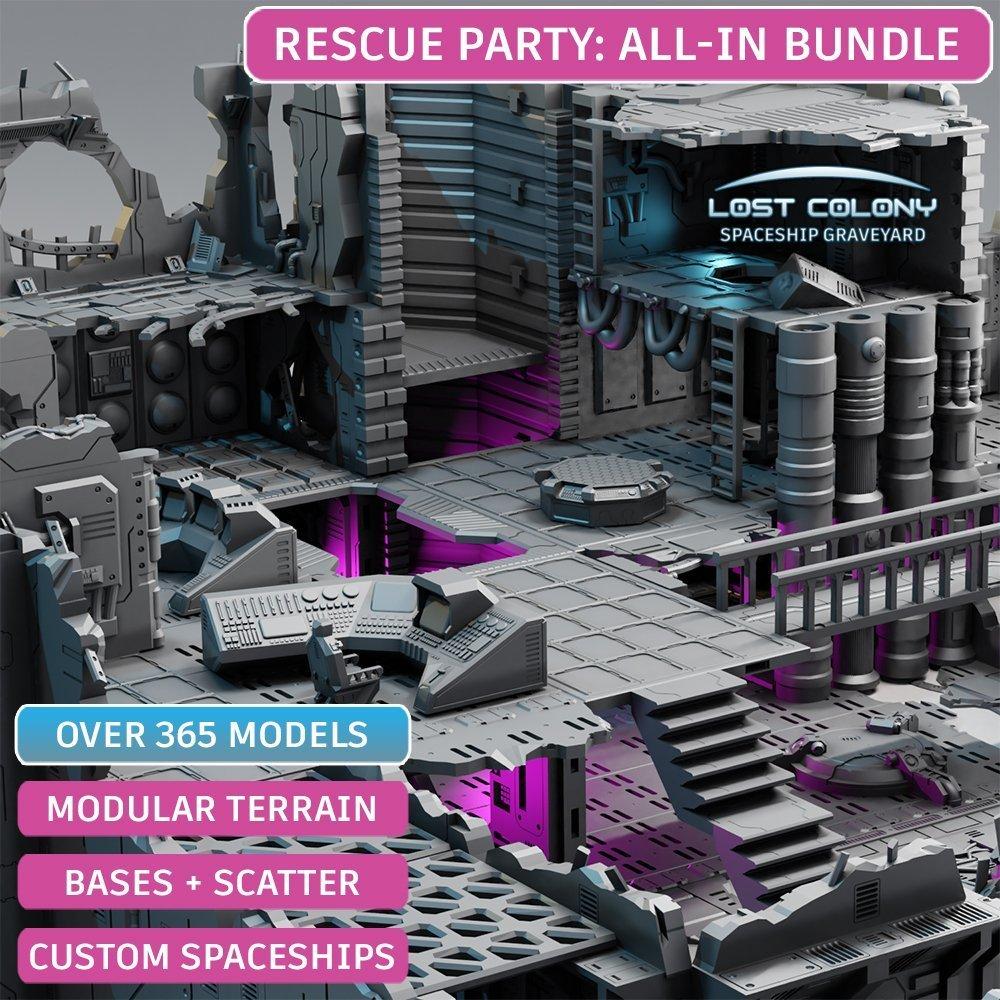 Lost Colony: Spaceship Graveyard – Kickstarter Bundle (LATE PLEDGE)
