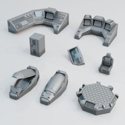 3d printed scifi scatter terrain