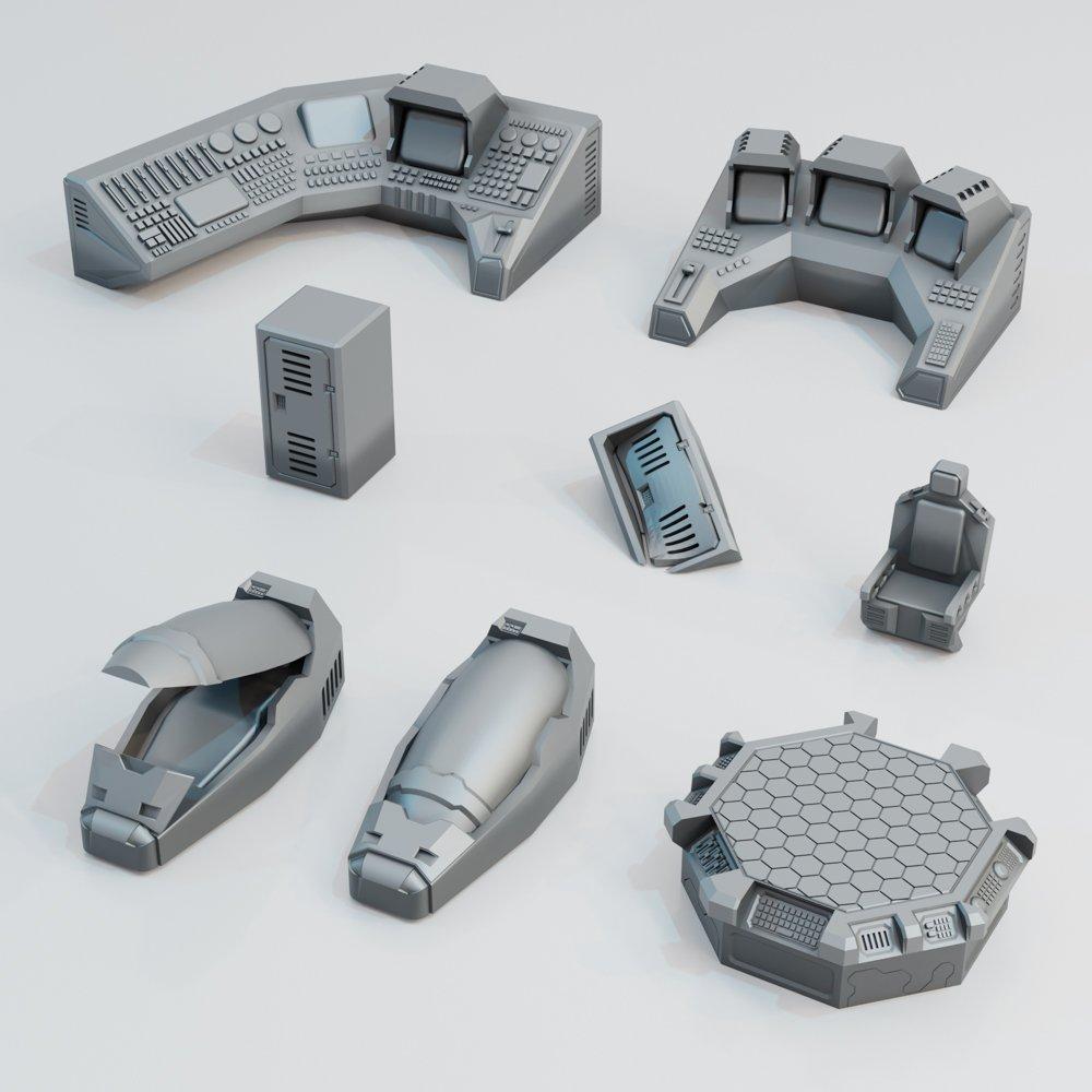 Sci-fi Scatter Pack Alpha STL 3D printable