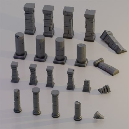 fantasy terrain saucermen studios 28mm 32mm wargame scenery, pillars and columns