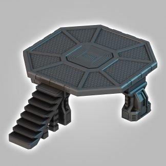 scifi terrain saucermen studios 28mm 32mm landing pad wargame scenery
