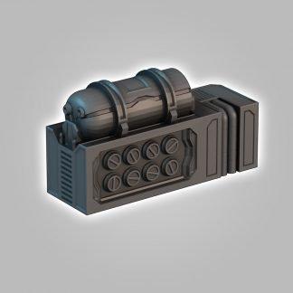 scifi terrain saucermen studios 28mm 32mm wargame scenery fuel tanks