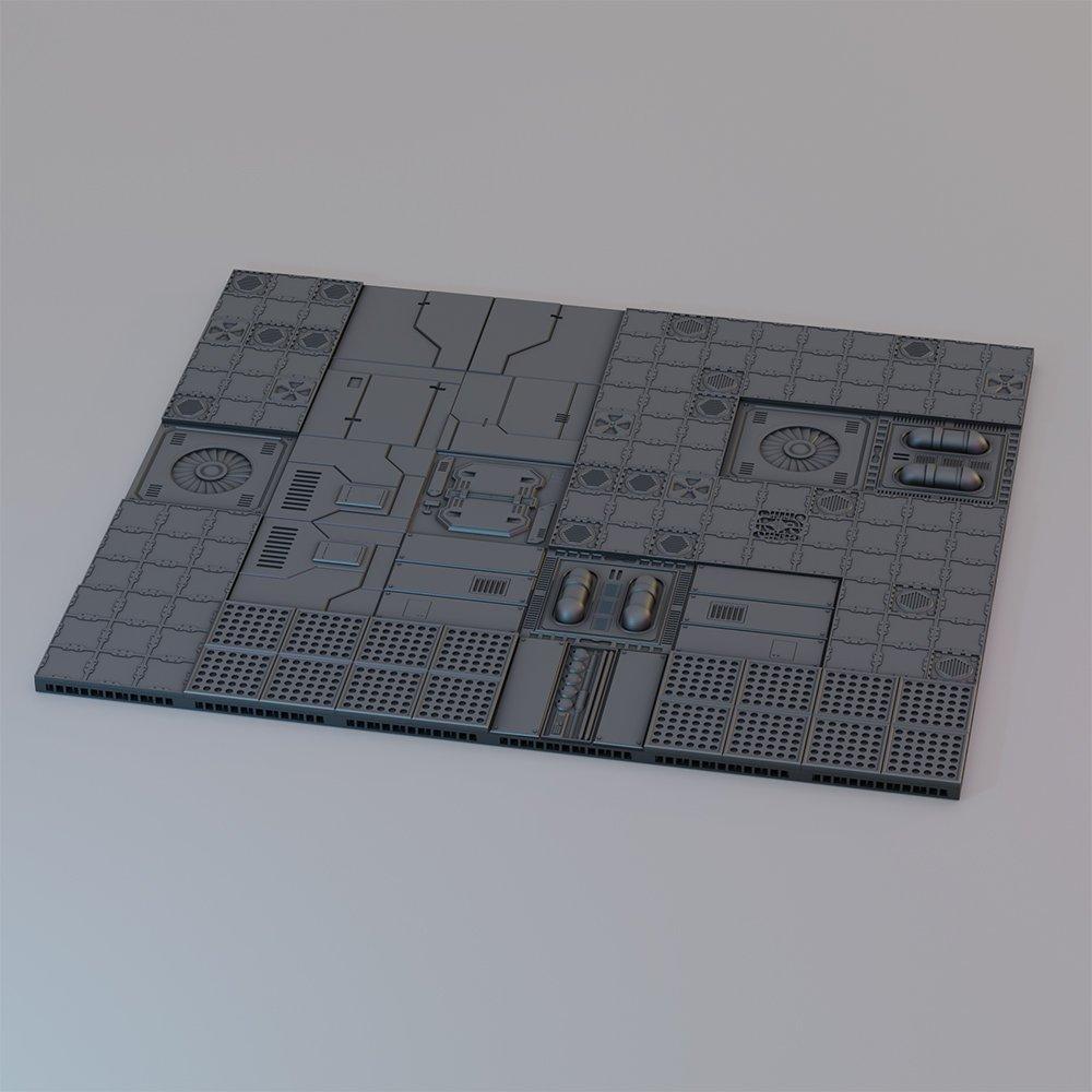 Modular Sci-fi Floor Tiles STL 3D printable