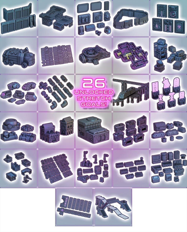 3d printed terrain for 40k necromunda infinity killteam