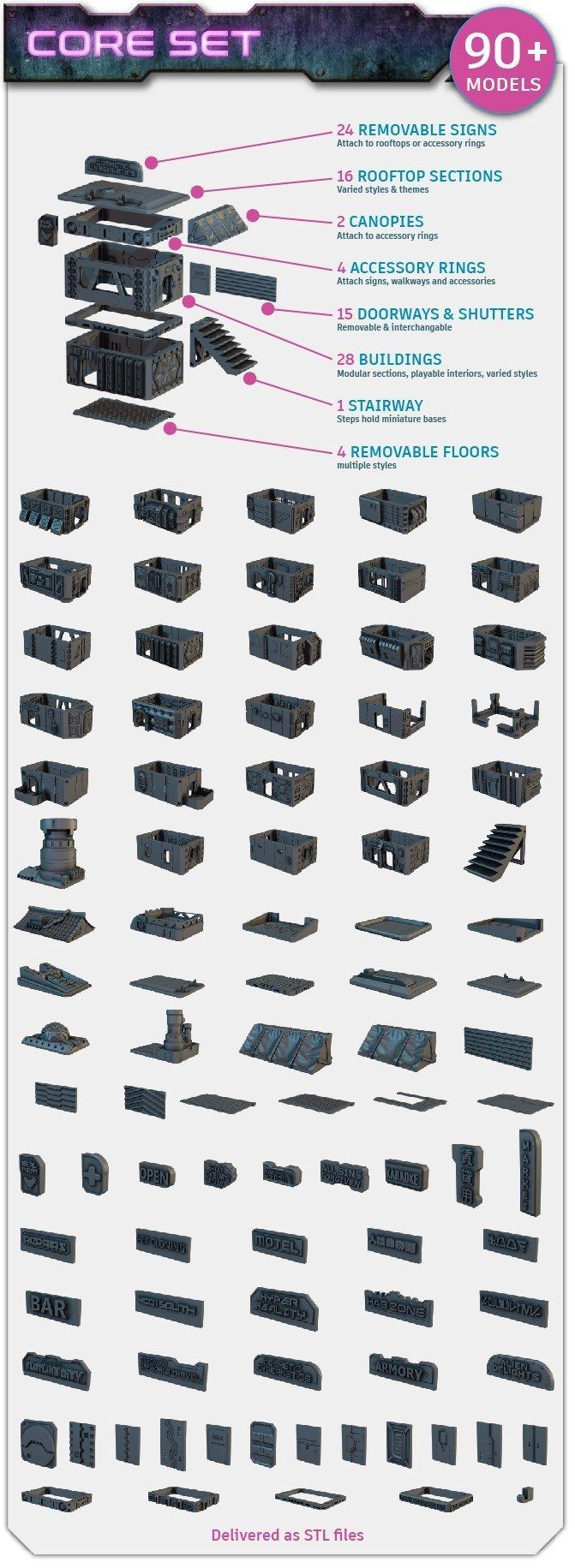 Flatline City core set contents