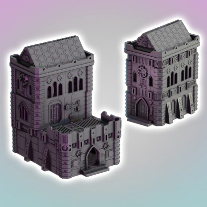 grim dark gothic church terrain 3d print